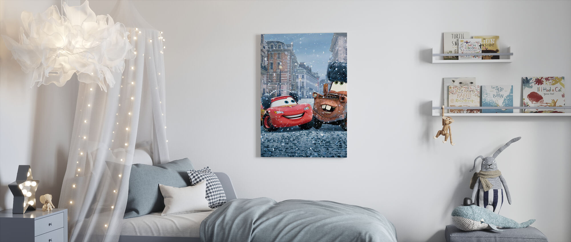 Autot - Salama McQueen Mater - Canvastaulu - Lastenhuone