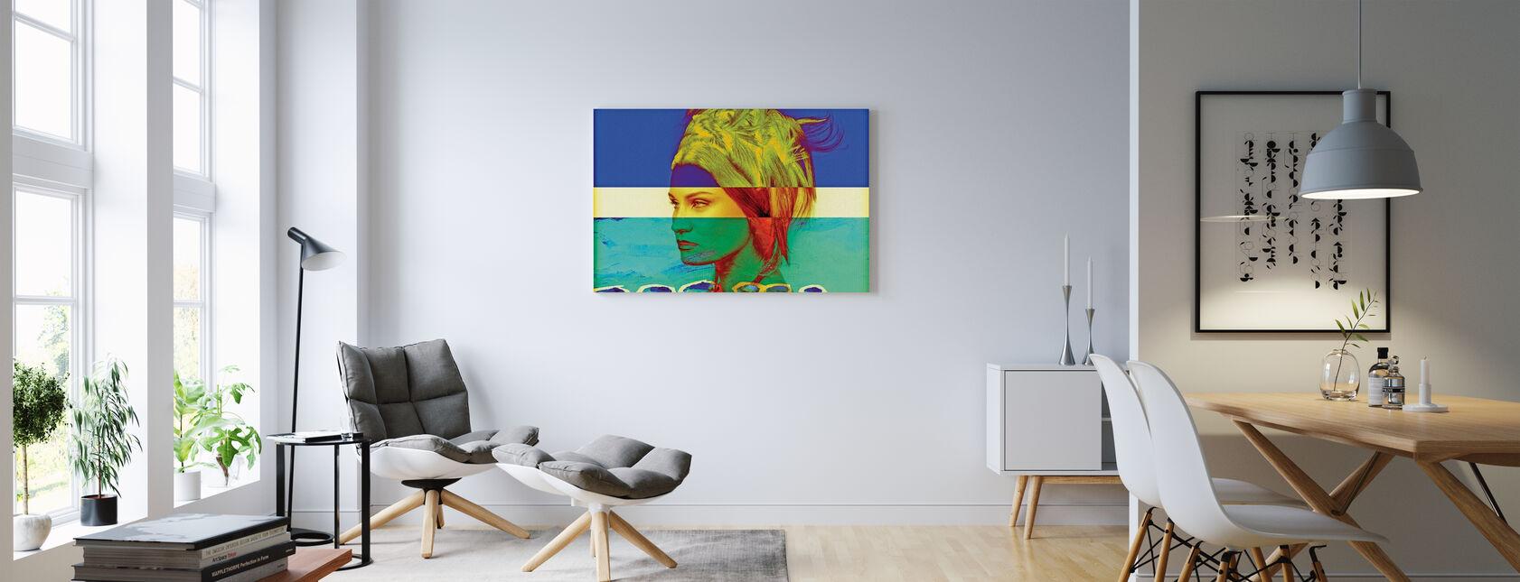 Zweedse vlag - Canvas print - Woonkamer