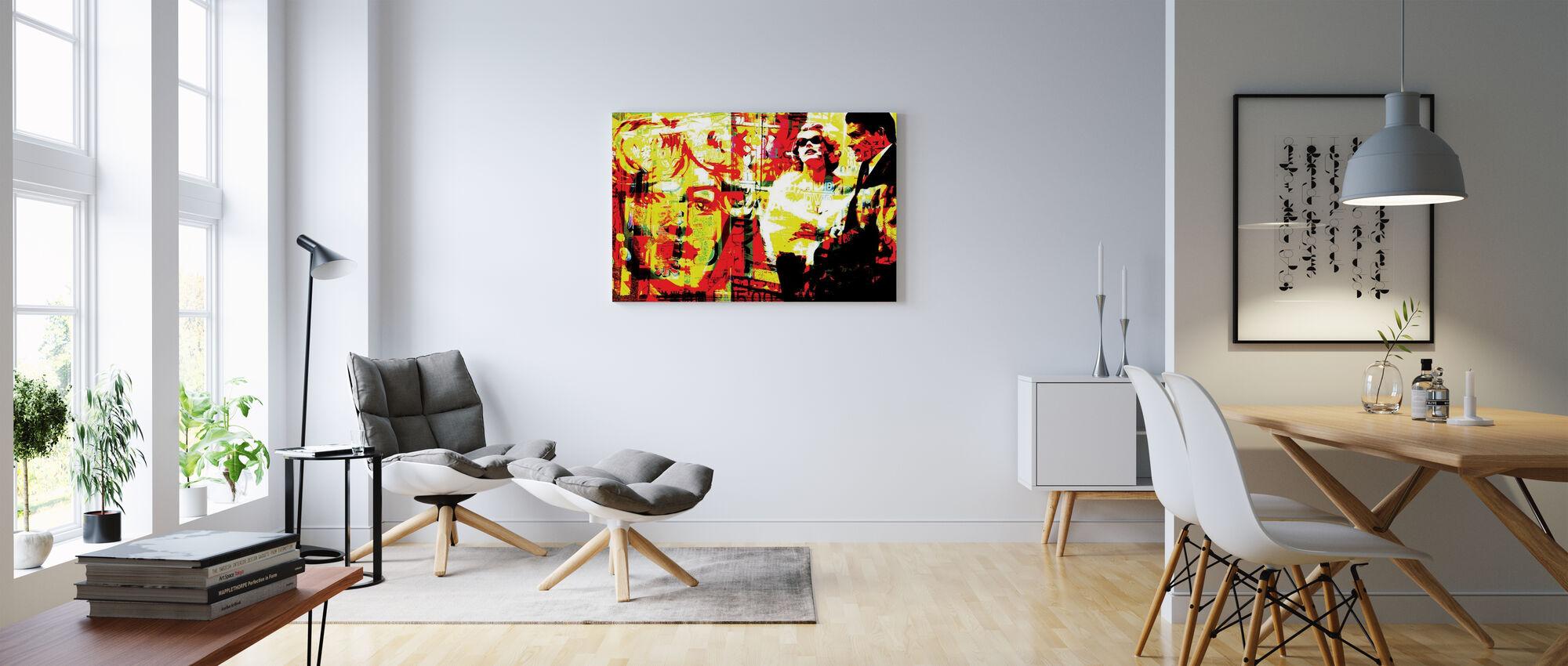 Marilyn-kuvake - Canvastaulu - Olohuone