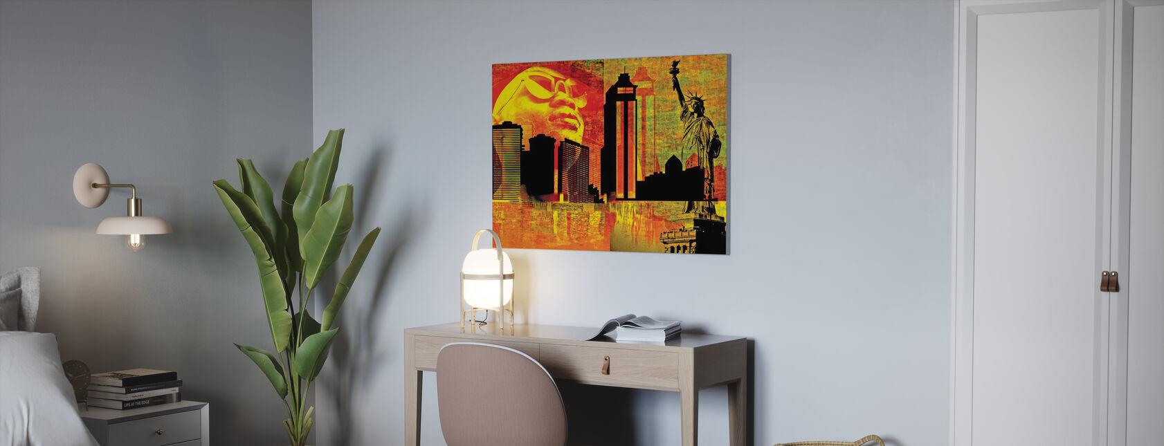 Grote Stad - Canvas print - Kantoor
