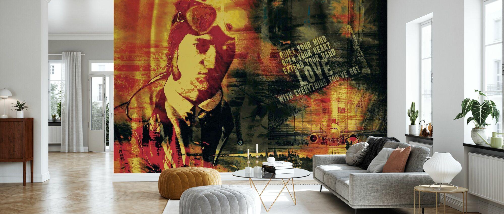 Old School - Wallpaper - Living Room