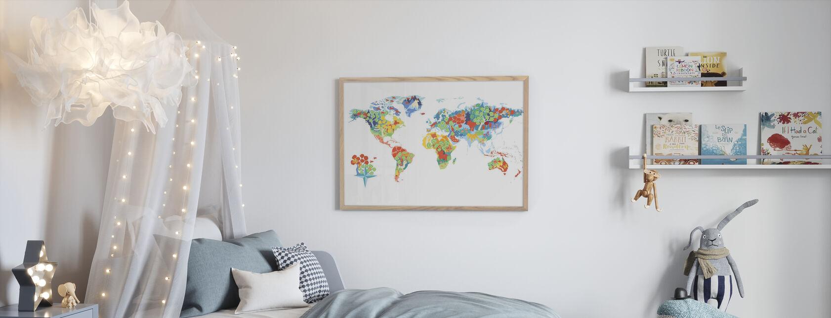 Monde merveilleux - Affiche - Chambre des enfants