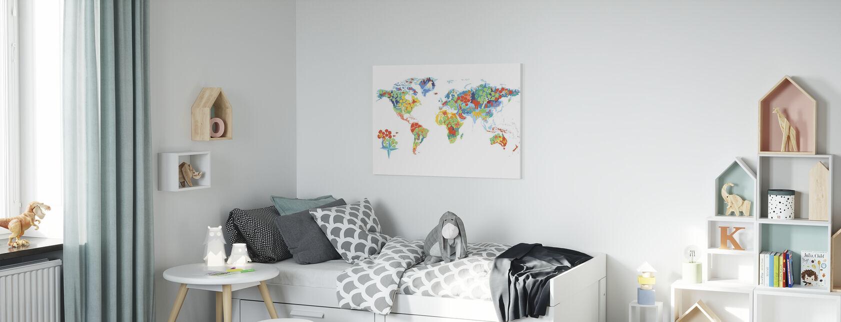 Wonderful World - Canvas print - Kids Room