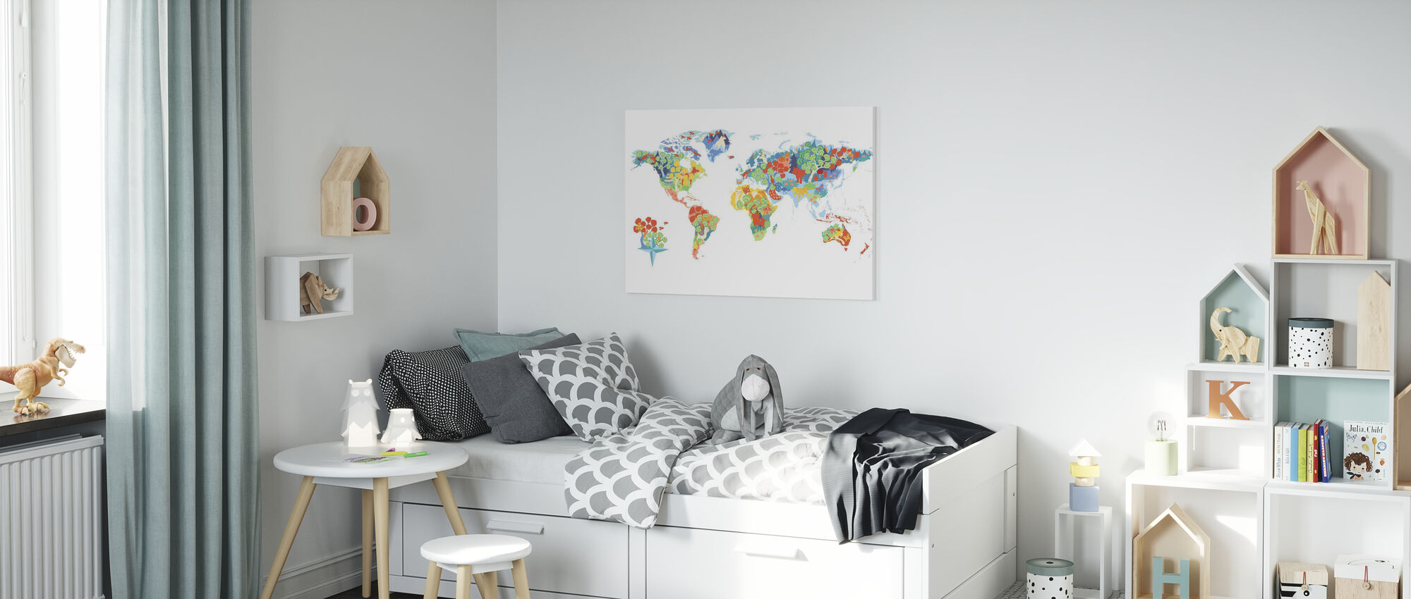 Fantastisk verden - Lerretsbilde - Barnerom