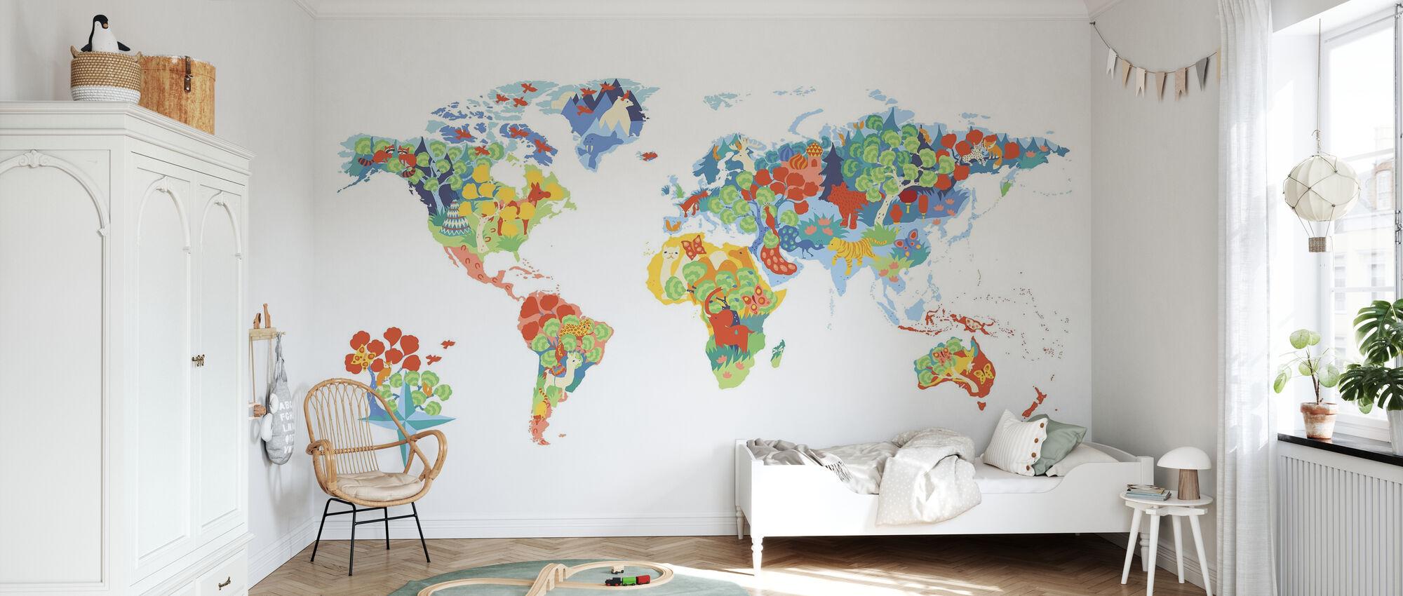 Underbar värld - Tapet - Barnrum