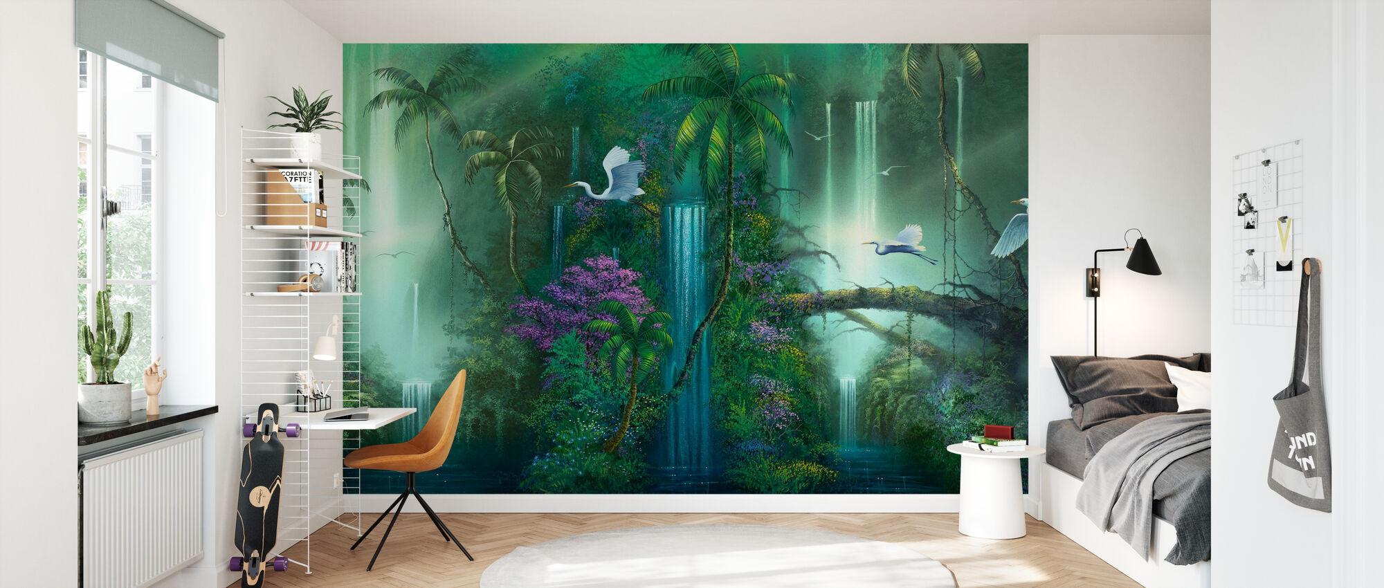 Waterval Fantasy - Behang - Kinderkamer