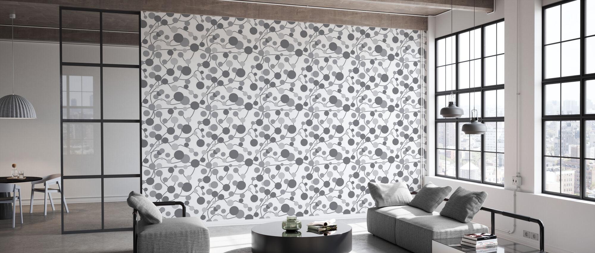 Kurbits - Grey - Wallpaper - Office