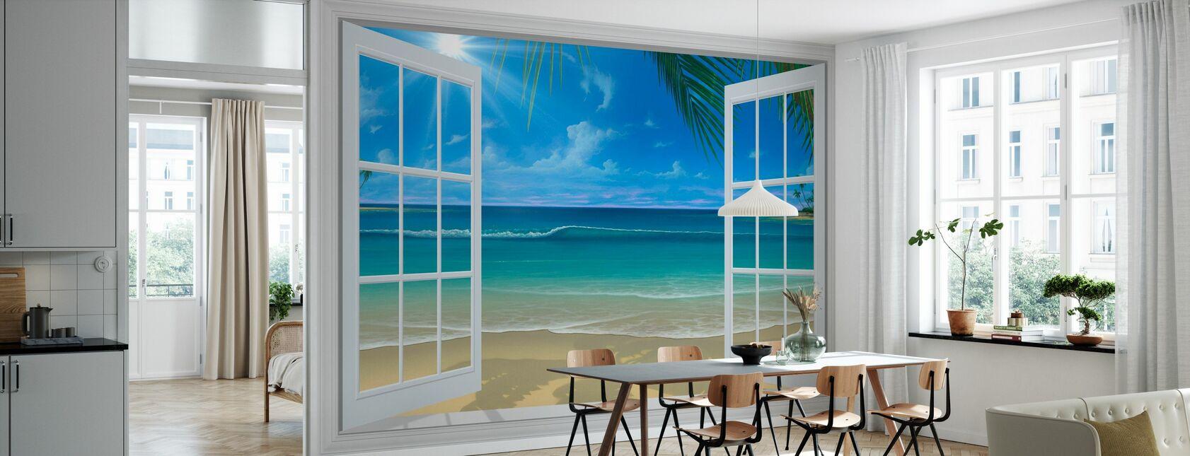 Sunshine Through Window - Wallpaper - Kitchen