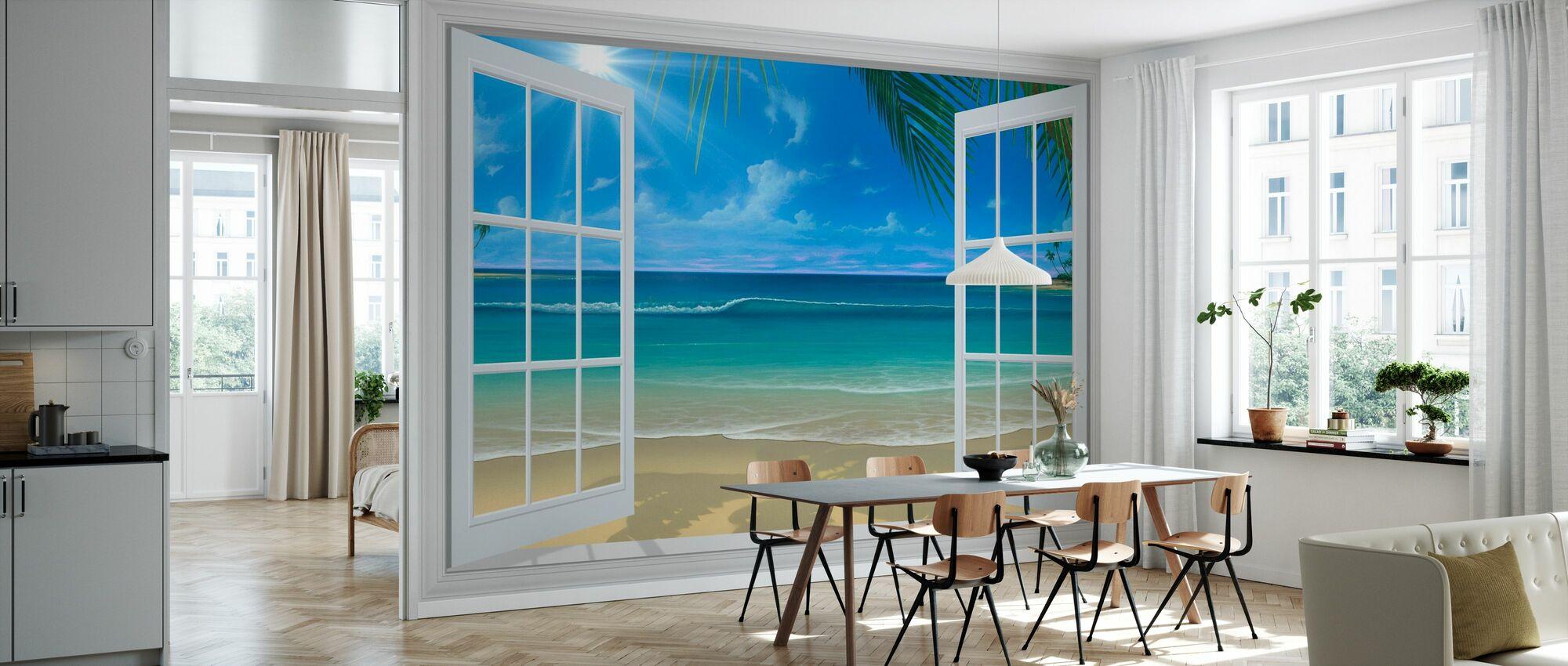 Solskinn gjennom vinduet - Tapet - Kjøkken