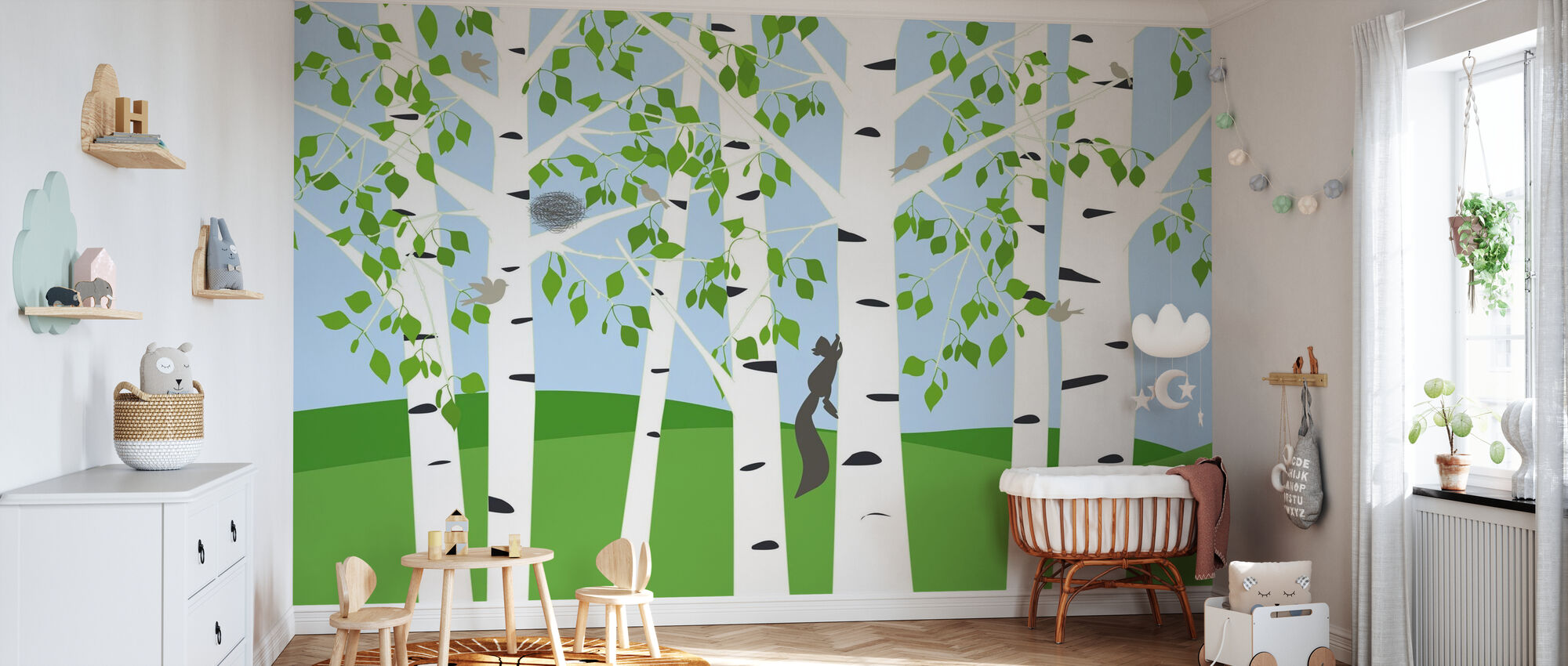Birch Forest Spring - Wallpaper - Nursery