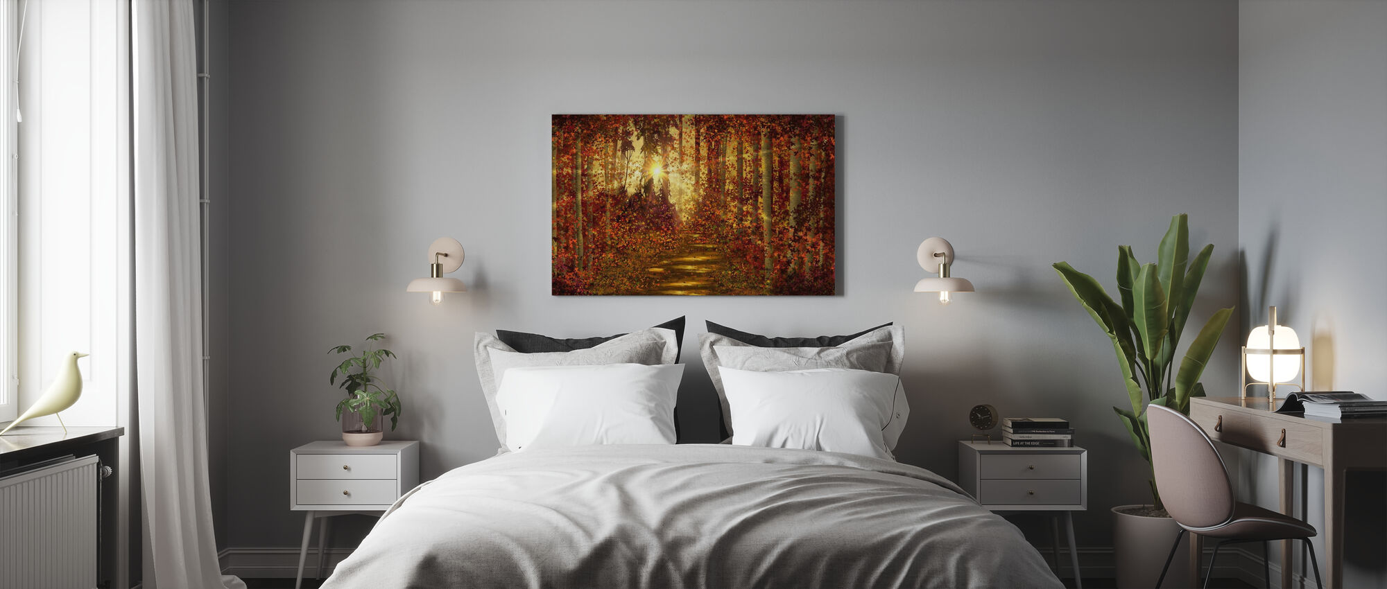 Forest Trails - Canvas print - Bedroom