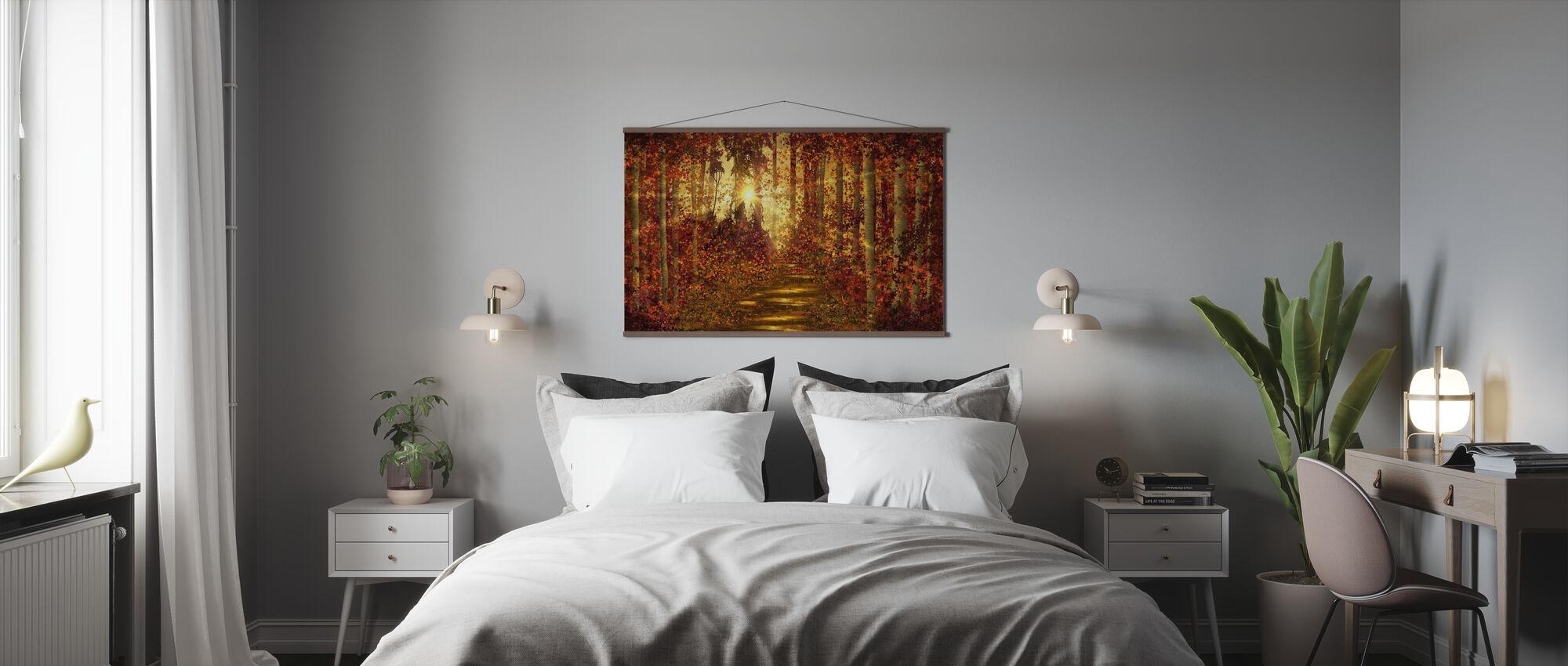 Waldwege - Poster - Schlafzimmer