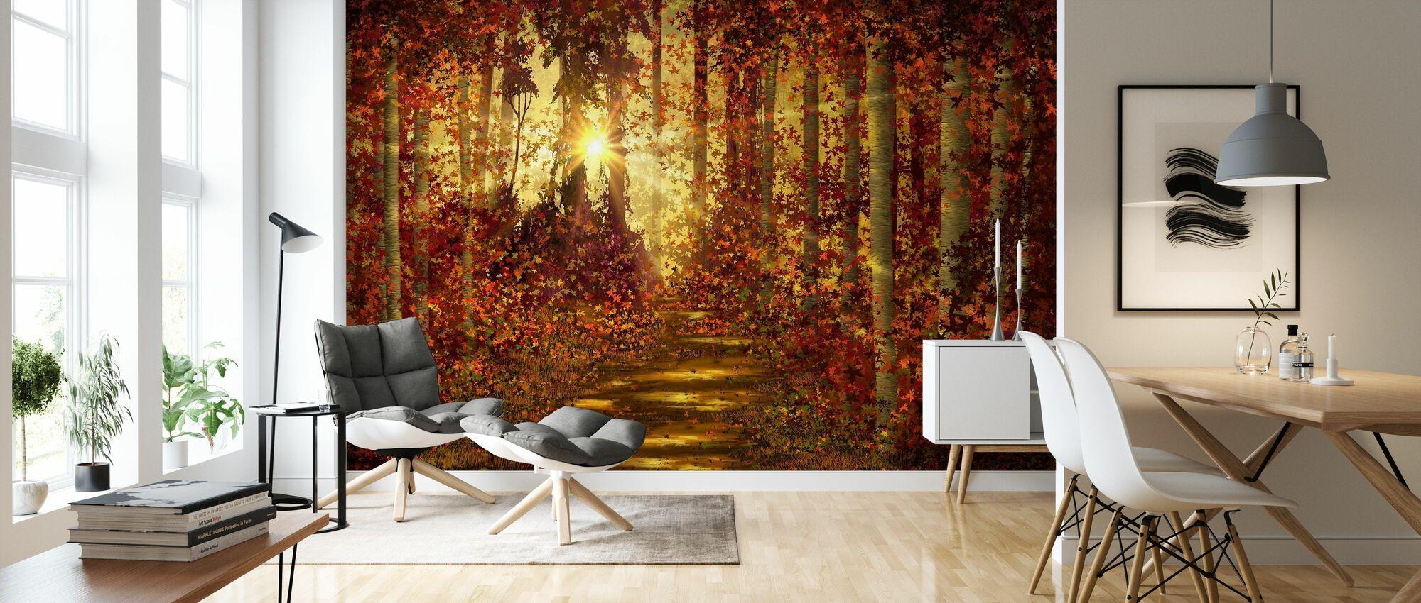 Forest Trails - Wallpaper - Living Room