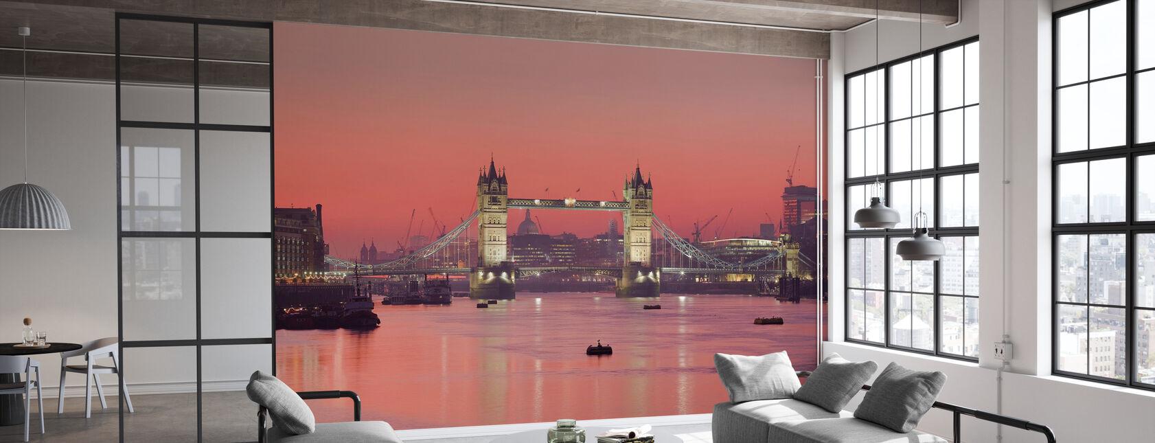 London Skyline en Sunset - Tapet - Kontor