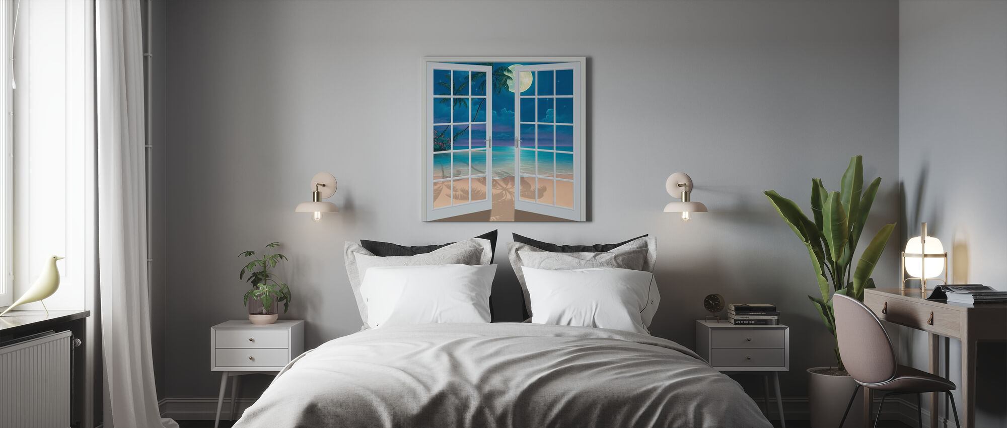 Moon Shadows - Canvas print - Bedroom