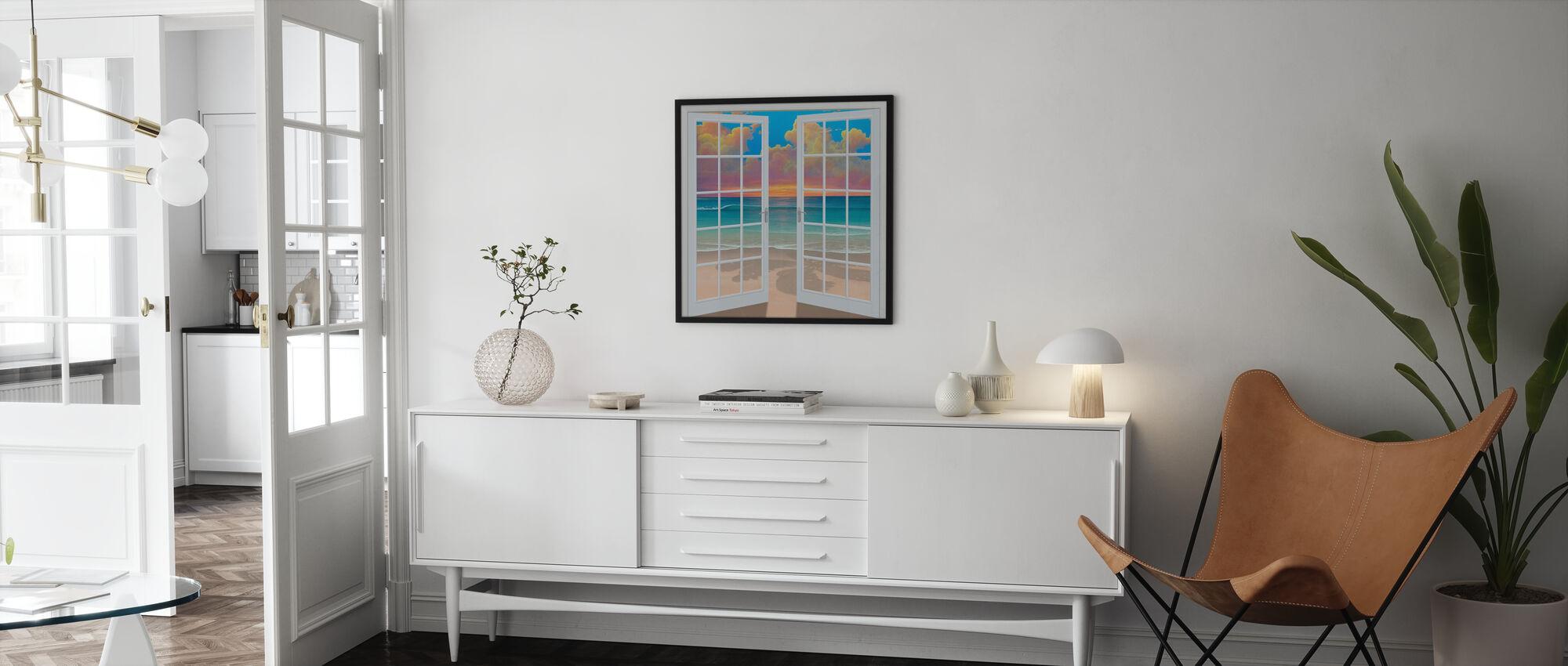 Sunset Through Window - Poster - Living Room