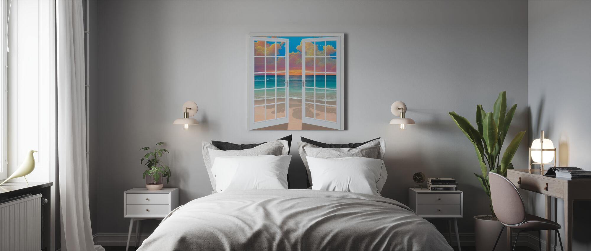 Sunset Through Window - Canvas print - Bedroom