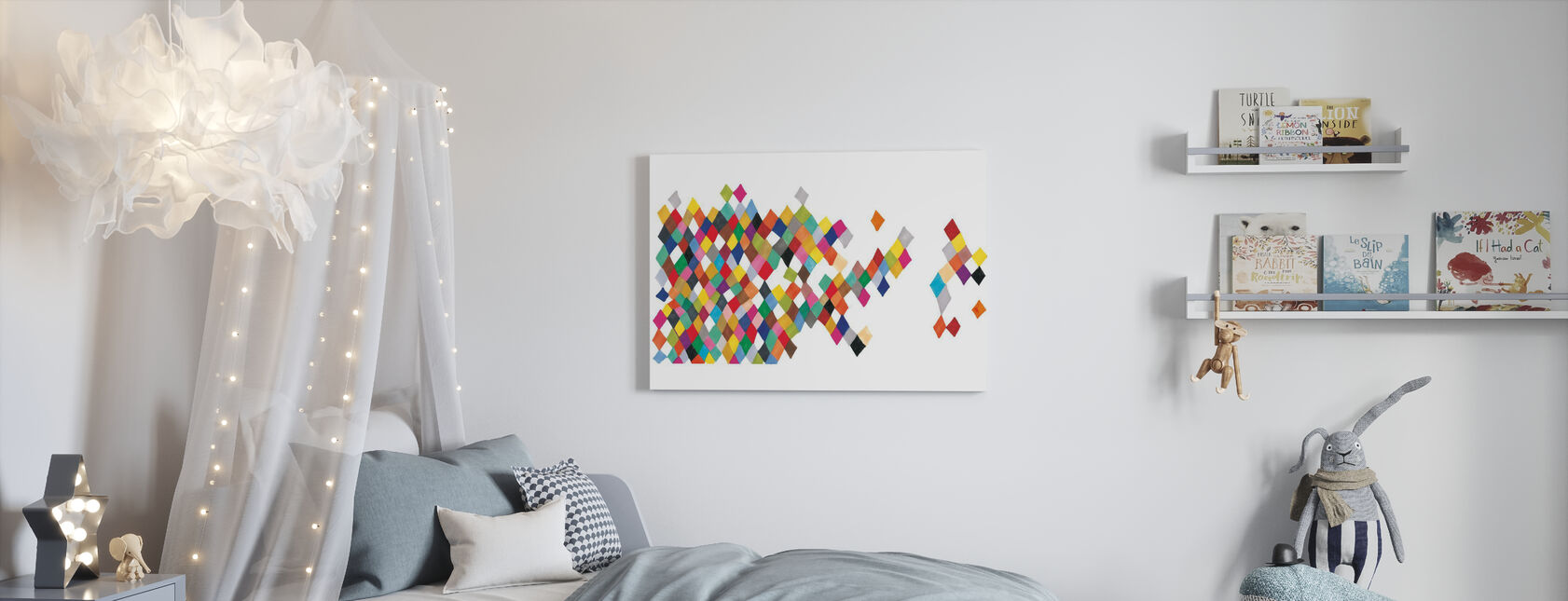 Motley Harlequin Motley Boxes - Canvas print - Kids Room