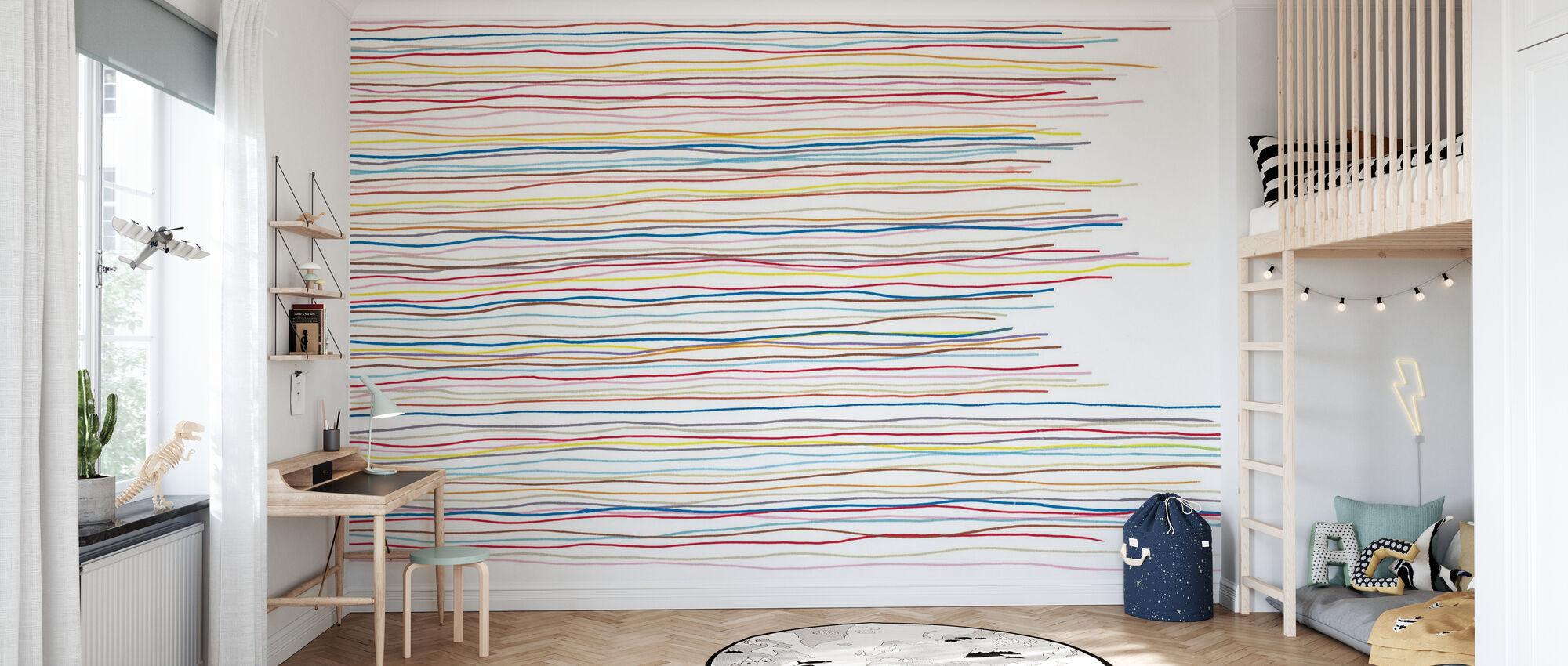 Variegated Stripes - Wallpaper - Kids Room