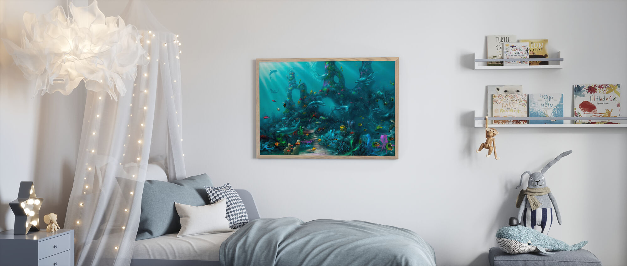Dolphin Paradise - Poster - Kids Room