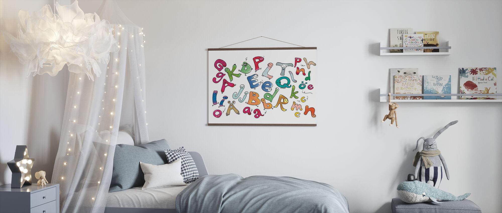 Lettere variegate - Poster - Camera dei bambini