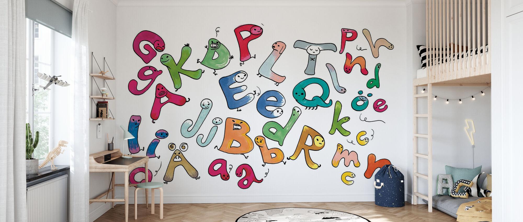 Variegated Letters - Wallpaper - Kids Room