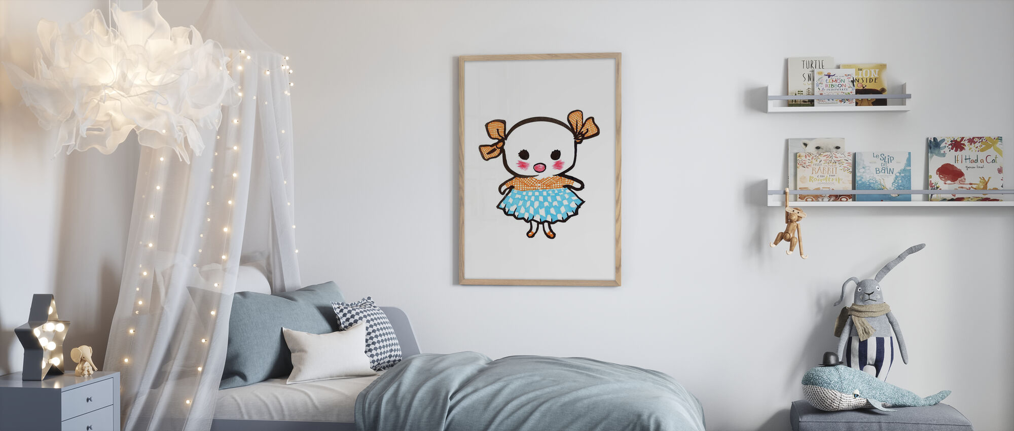 Lill-Stina - Framed print - Kids Room