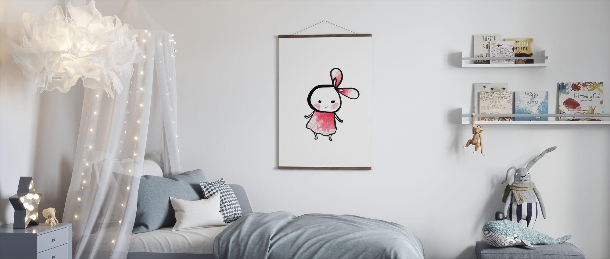 Mehr Rosa - Mehr Schnitt - Poster - Kinderzimmer