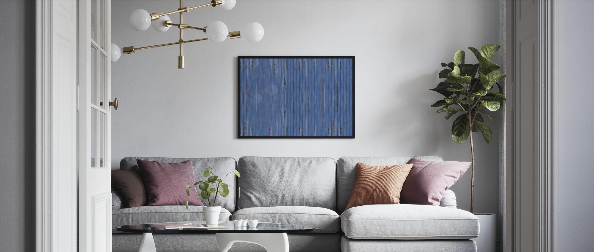 Blå Vintage Wall - Plakat - Stue