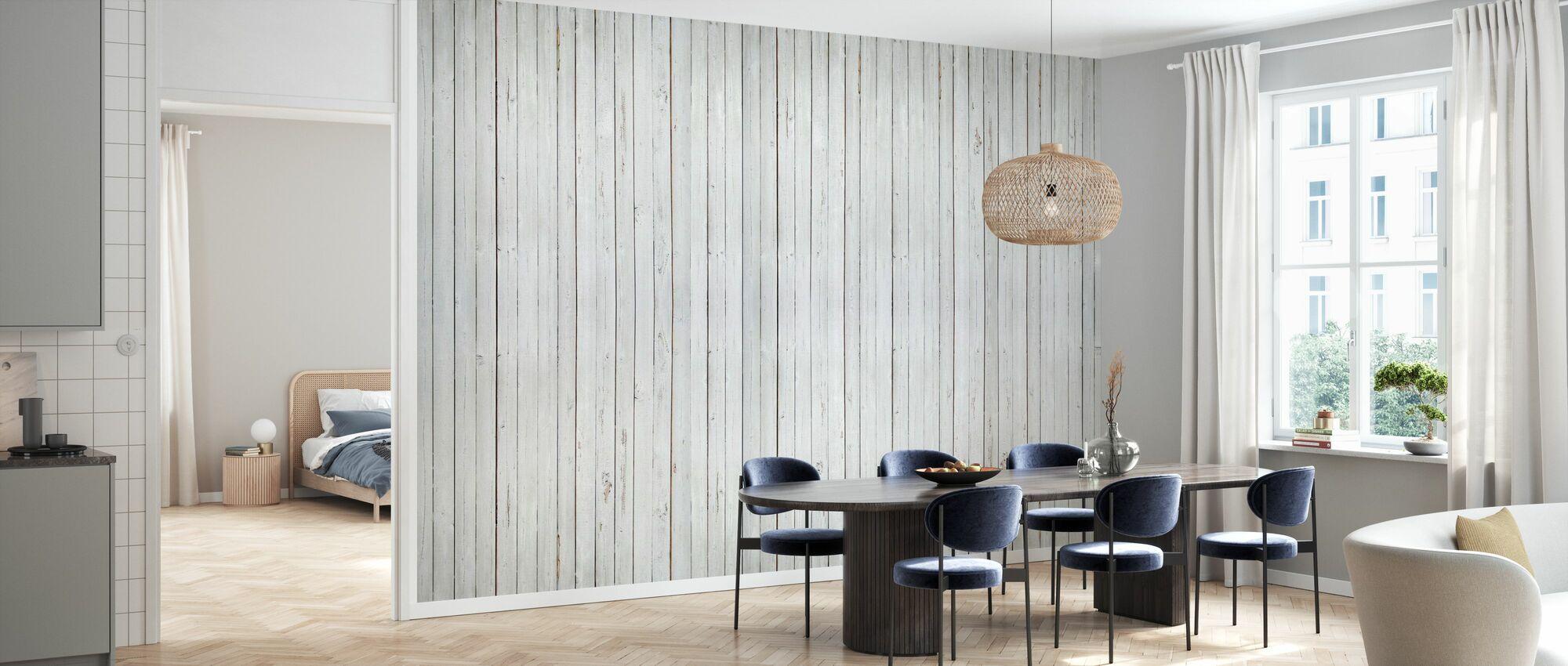 Whitewash Wood - Wallpaper - Kitchen