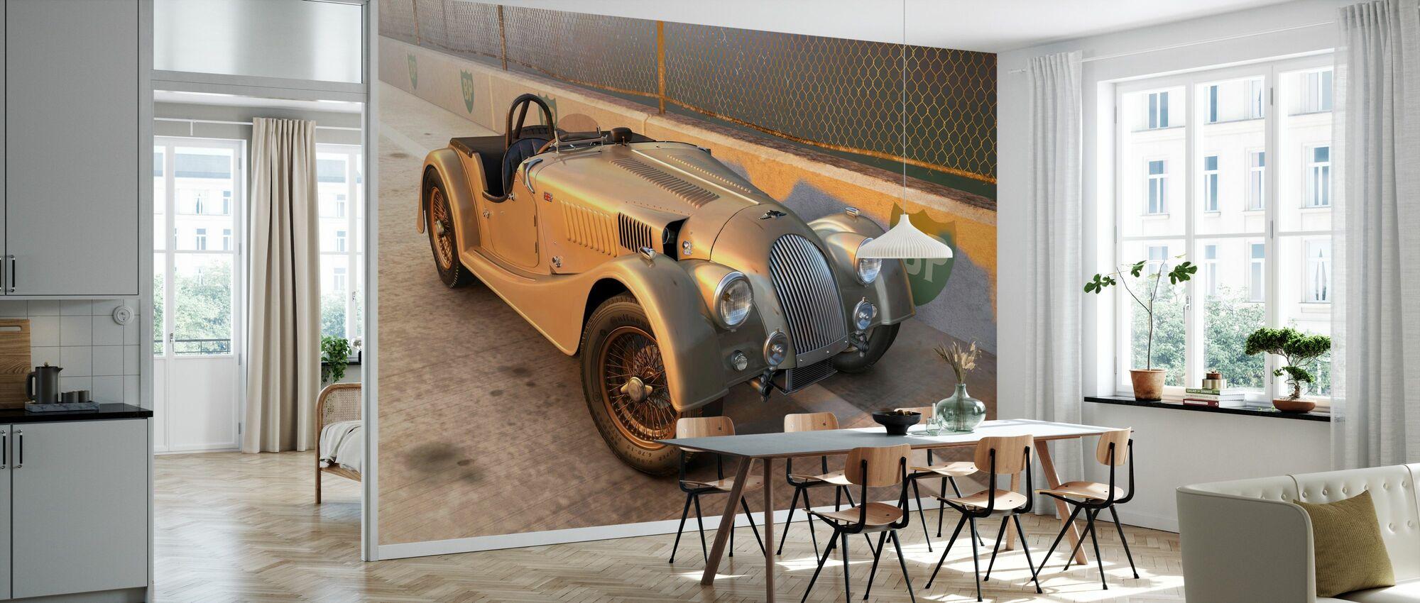 British Sports Car at the Track - Wallpaper - Kitchen