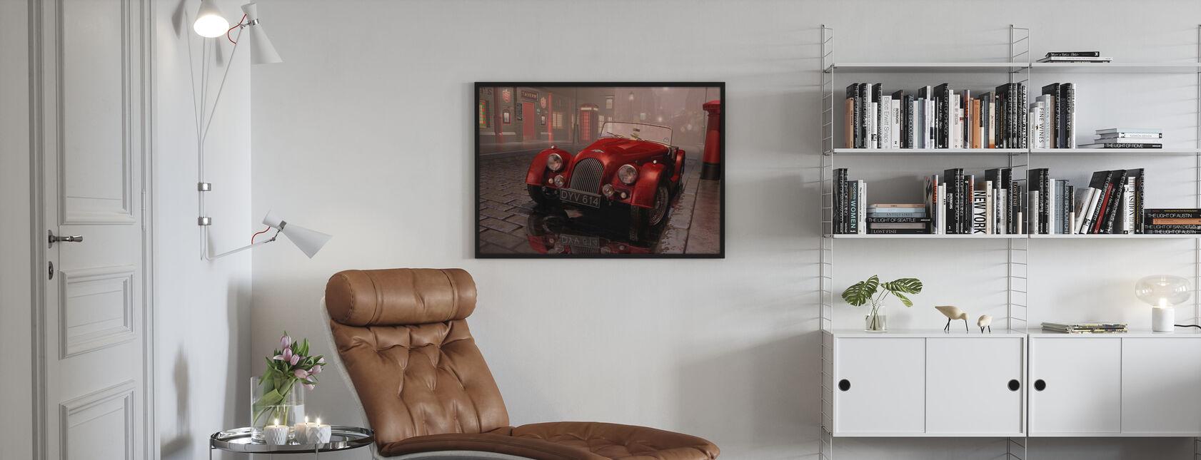 Britisk sportsbil i London - Innrammet bilde - Stue