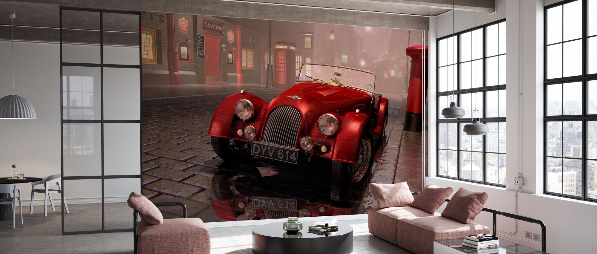 Britisk sportsbil i London - Tapet - Kontor