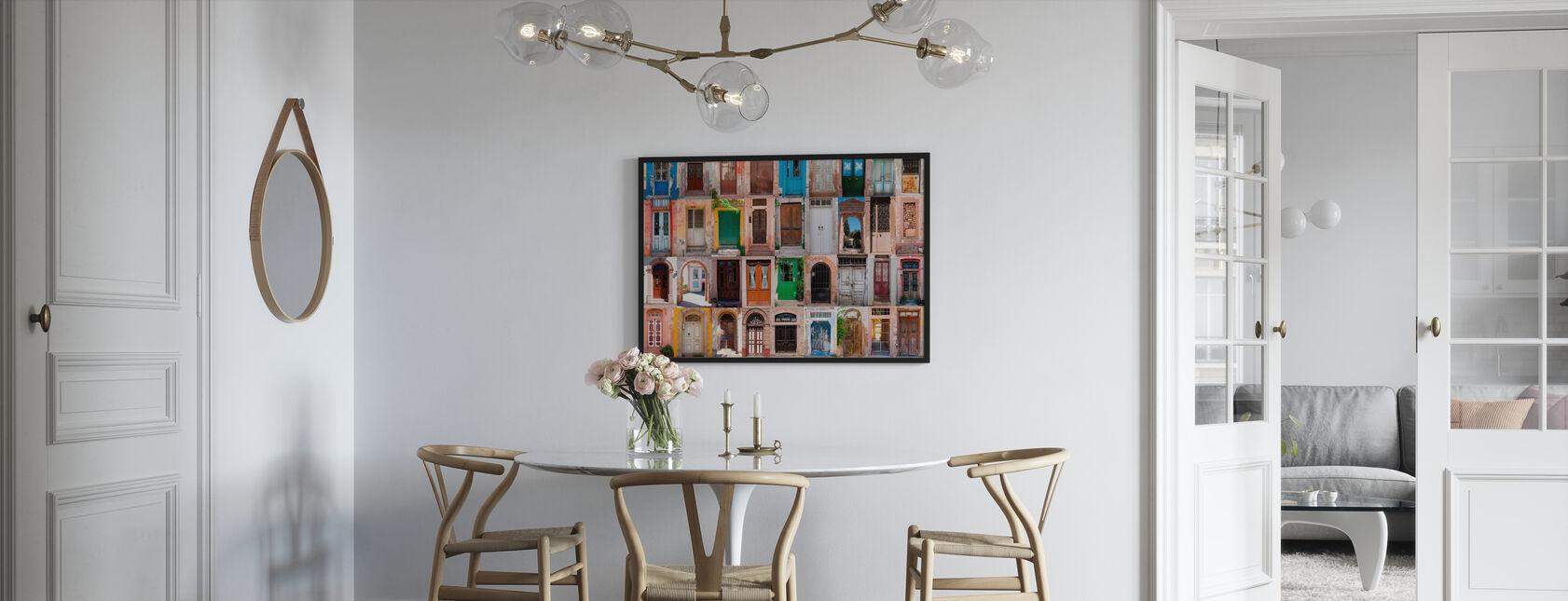 Färgglada dörrar - Poster - Kök