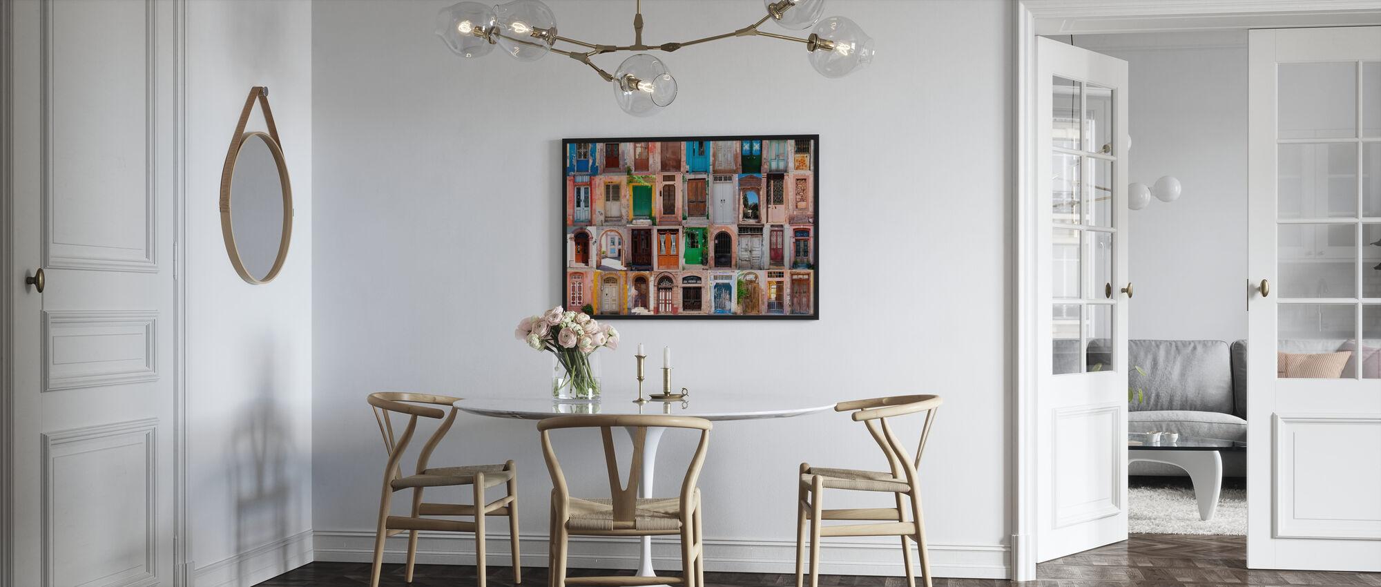 Farverige døre - Plakat - Køkken