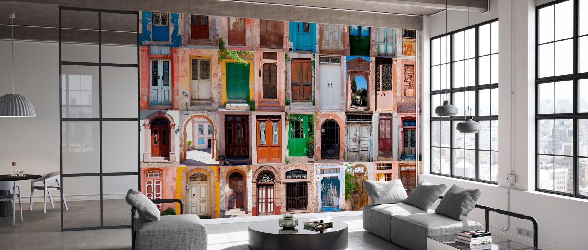 Colorful Doors - Wallpaper - Office
