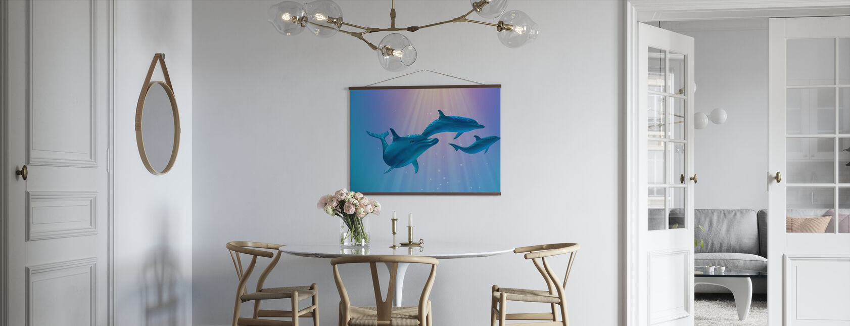 Delfin lys - Plakat - Kjøkken