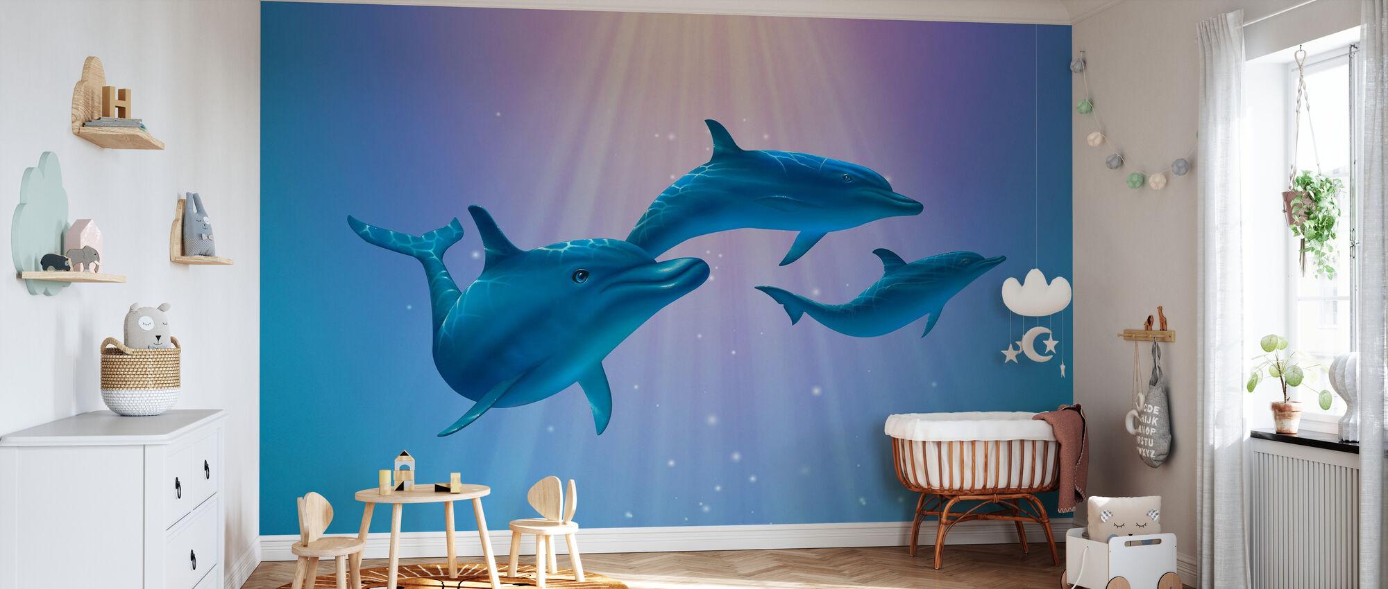 Dolphin Light - Wallpaper - Nursery