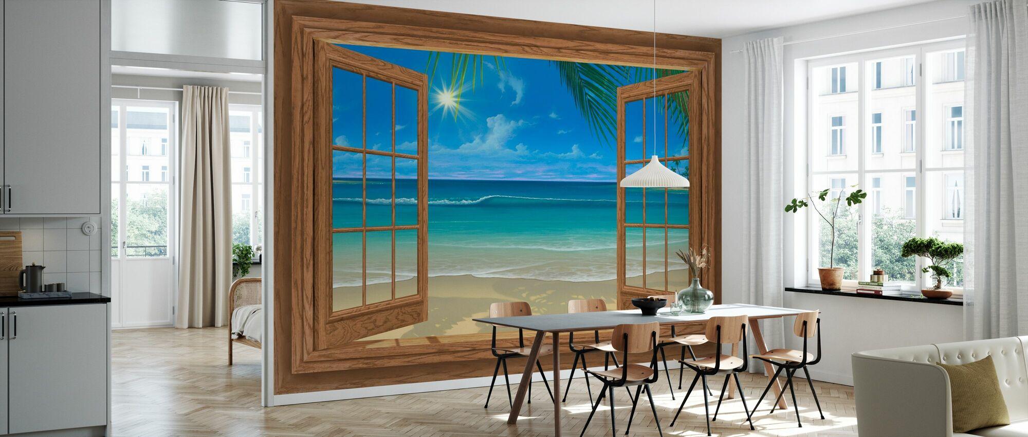 Afternoon View - Wallpaper - Kitchen