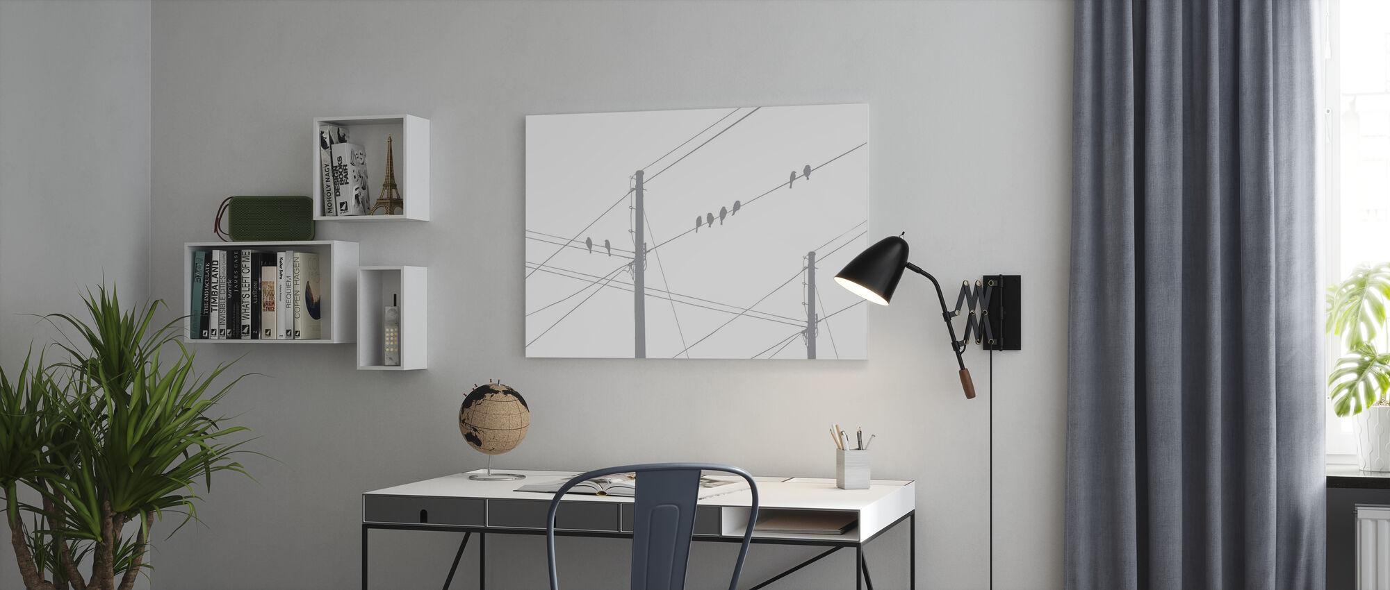 Powerlines - Grey - Impression sur toile - Bureau