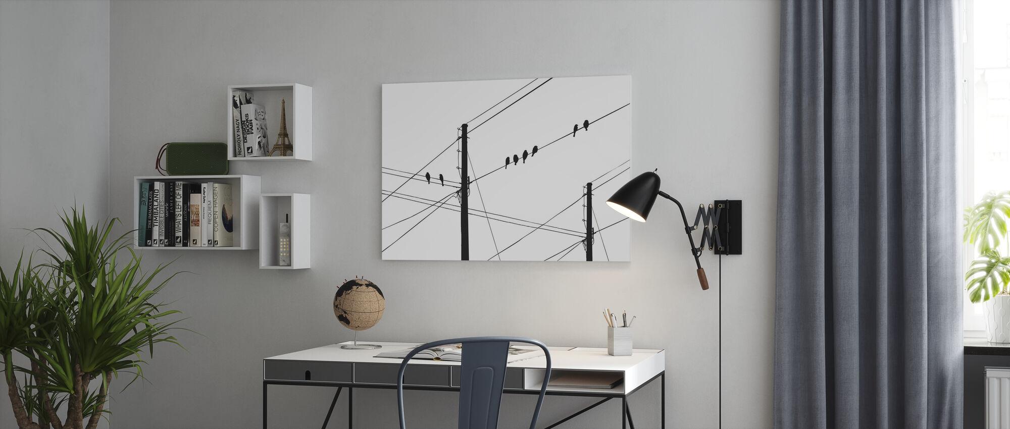 Powerlines - Svart - Lerretsbilde - Kontor