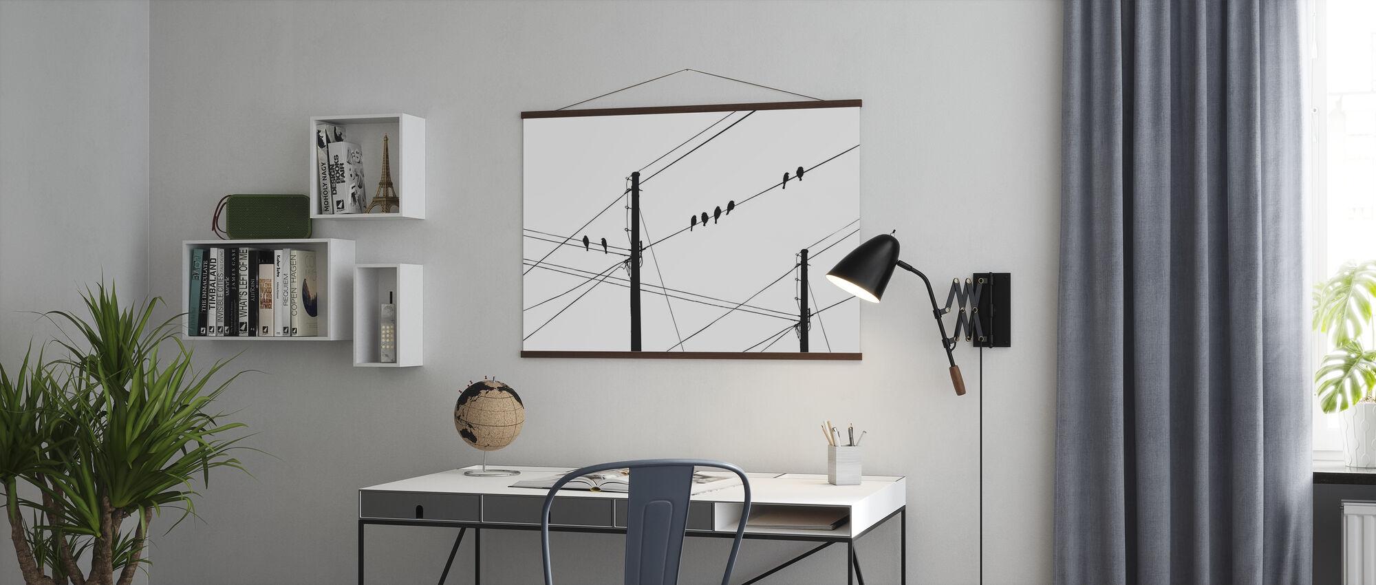 Powerlines - Black - Poster - Office
