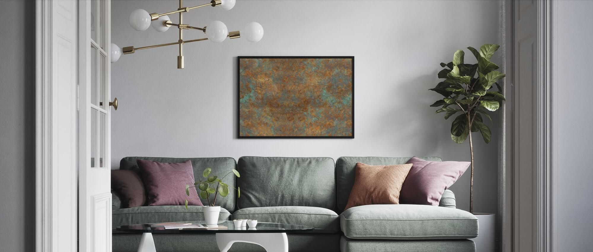 Vintage Bronze Background - Framed print - Living Room