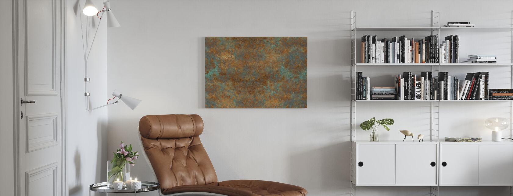 Vintage-Bronze-Hintergrund - Leinwandbild - Wohnzimmer