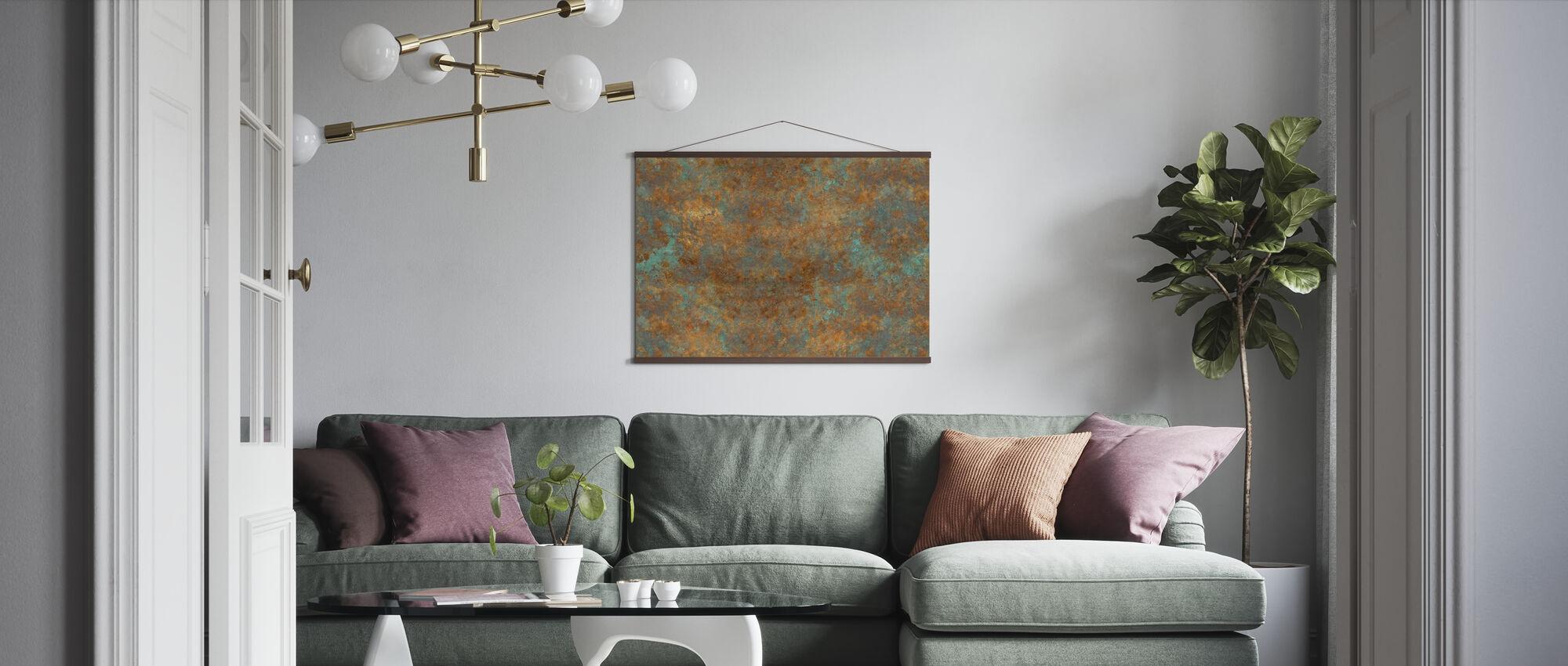 Vintage Bronze Background - Poster - Living Room