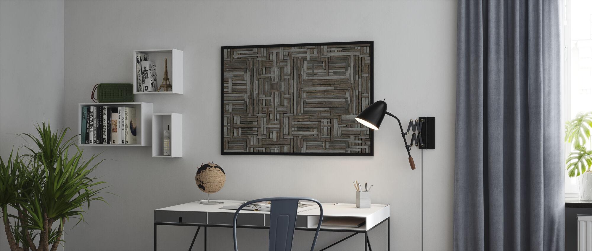 Gamle tremønstre - Innrammet bilde - Kontor