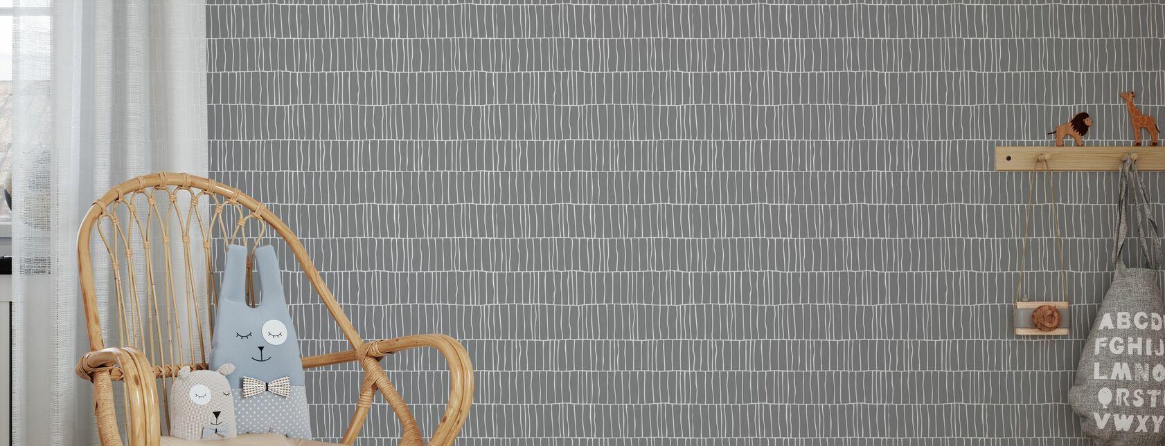Columns - Steel - Wallpaper - Kids Room
