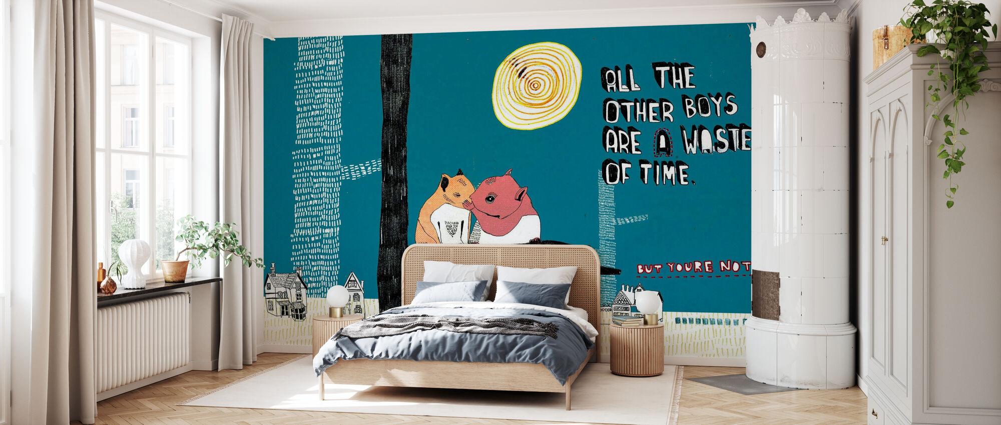 Alle jongens - Behang - Slaapkamer
