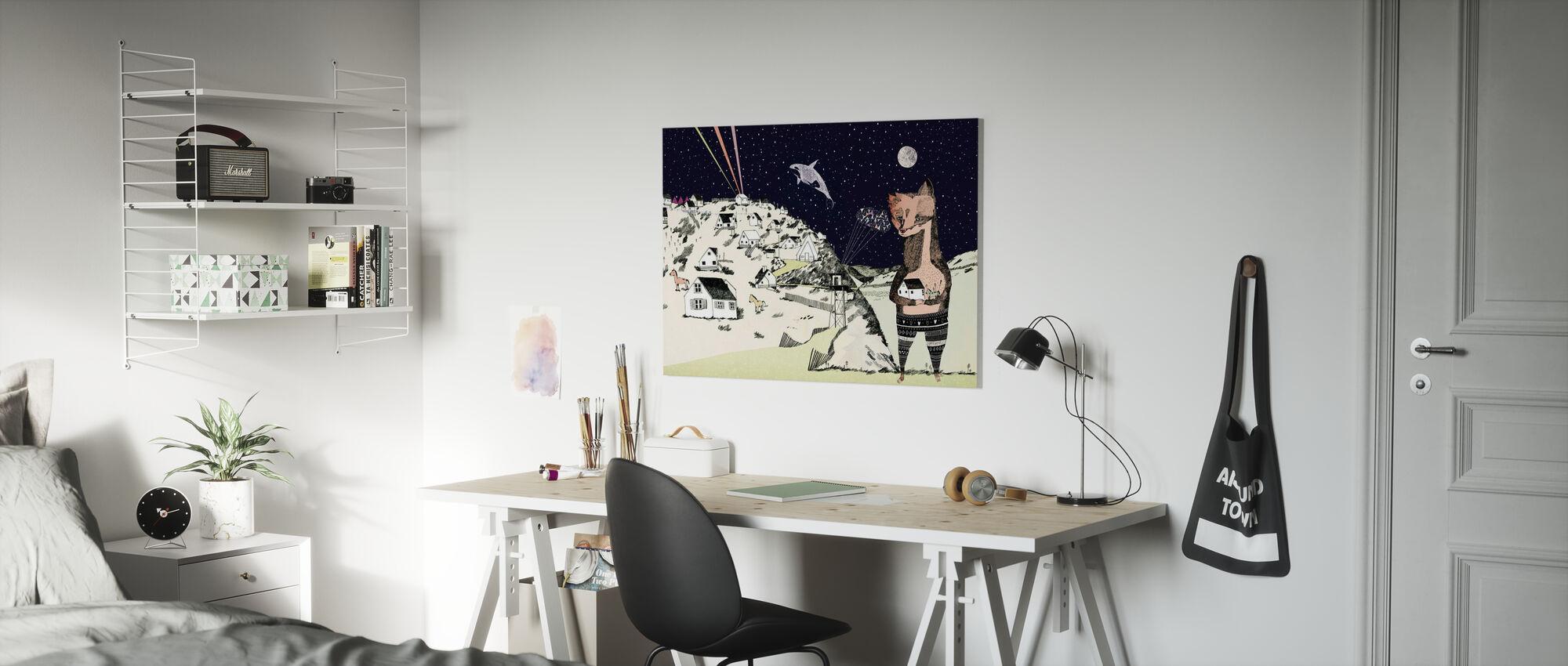 Night Picnic - Canvas print - Kids Room