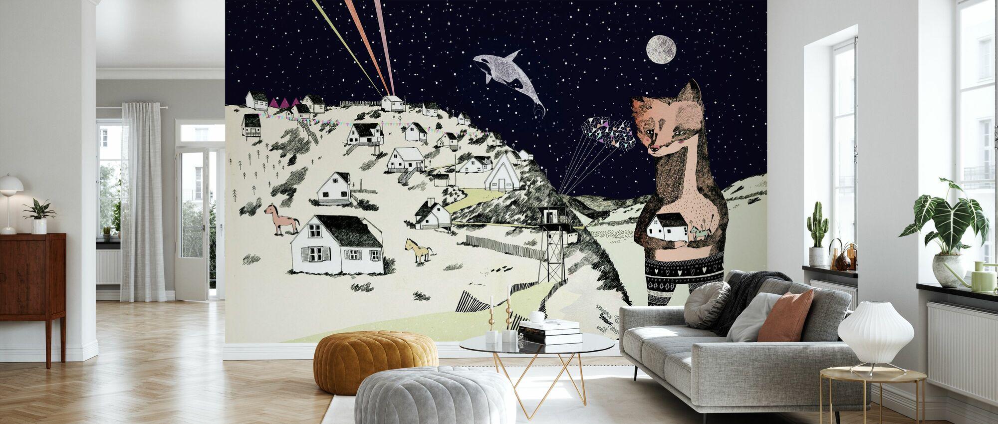 Nacht picknick - Behang - Woonkamer